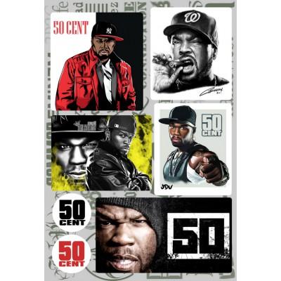 Наклейки - стикерпак - 50 Cent