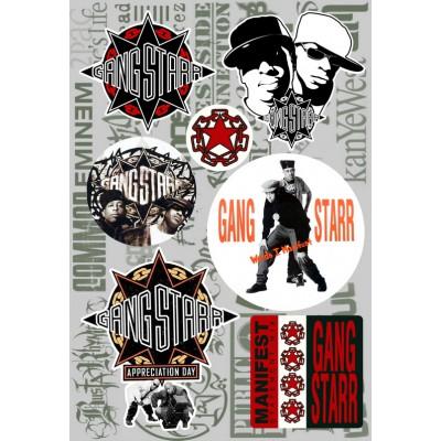 Наклейки - стикерпак - Gangstarr