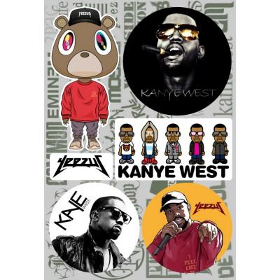 Наклейки - стикерпак - Kanye West