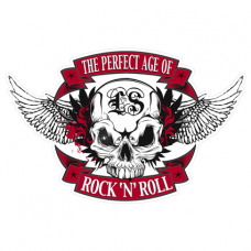 Наклейка Skull Rock N Roll