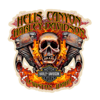 Наклейка Hells Canyon Harley Davidson
