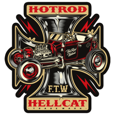 Наклейка Hot Rod Hellcat