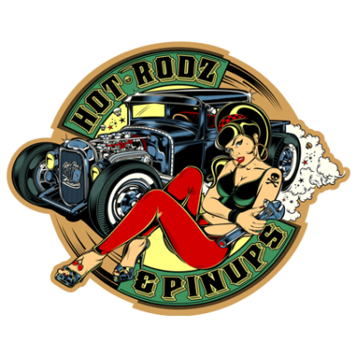 Наклейка Hot Rod Pin Up