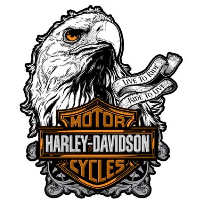 Наклейка Harley Davidson Motorcycle