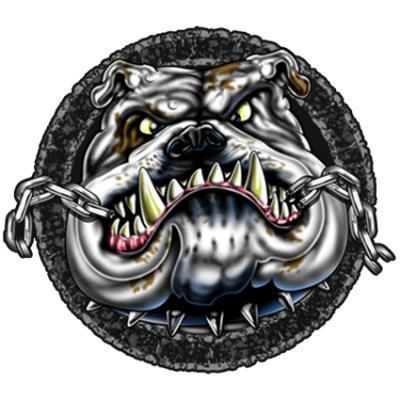 Наклейка Angry Bulldog