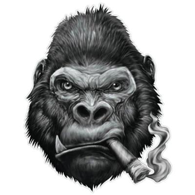 Наклейка Gorilla With Cigar (Горилла с сигарой)