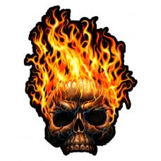 Наклейка Skull Fire