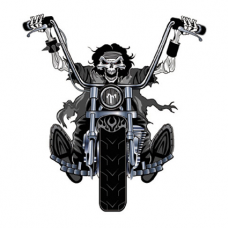 Наклейка Zombies On A Motorcycle