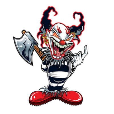 Наклейка Evil Clown (Злой клоун)