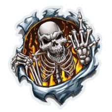 Наклейка Skull Skeleton
