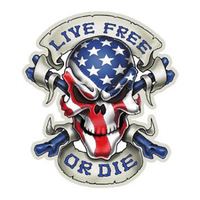 Наклейка Live Free Or Die