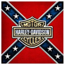 Наклейка Confederate Flag - Harley Davidson