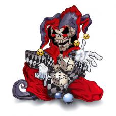 Наклейка Evil Jester