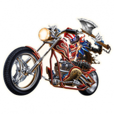 Наклейка Evil Clown Motorcycle Rider
