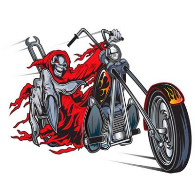 Наклейка Skeleton Motorcycle Rider