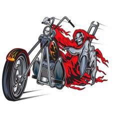 Наклейка Skeleton Motorcycle Rider