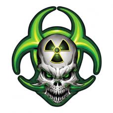 Наклейка Skull Zombie Radiation