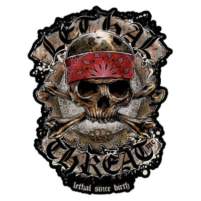 Наклейка Skull In Bandana
