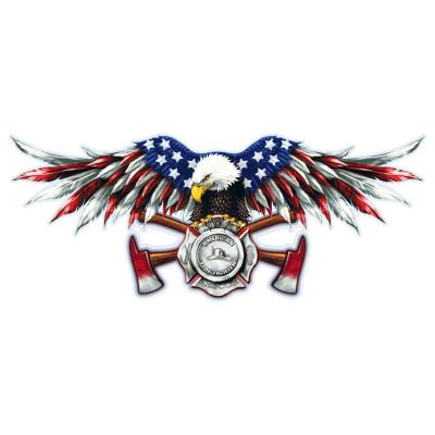 Наклейка American Firefighter