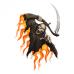 Наклейка Fire Death With A Scythe (Смерть с косой)