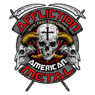 Наклейка Affliction Metal
