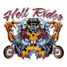 Наклейка Hell Rider