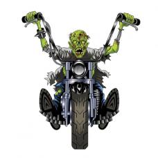 Наклейка  Zombie Chopper