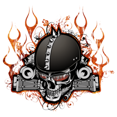Наклейка  Skull Motorcycle