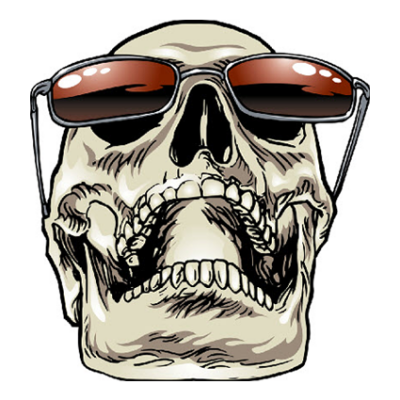 Наклейка Skull In Glasses (Череп в очках)