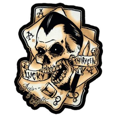 Наклейка Lucky Thirteen