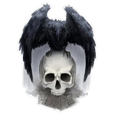Наклейка Crown And Skull