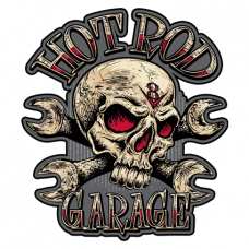 Наклейка Hot Rod Garage