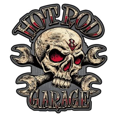 Наклейка Hot Rod Garage