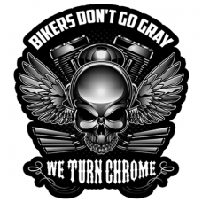 Наклейка Bikers Don't Go Grey