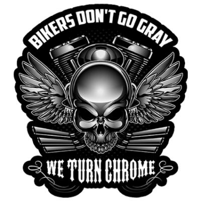 Наклейка Bikers Don't Go Grey