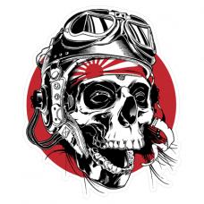 Наклейка Skull Kamikaze (Череп камикадзе)
