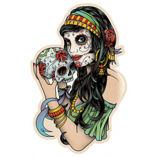 Наклейка Bad Girls Skull