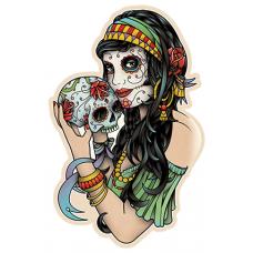 Наклейка Bad Girls Skull