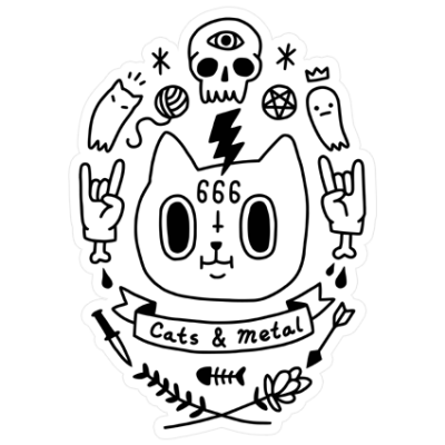 Наклейка Cats And Metal