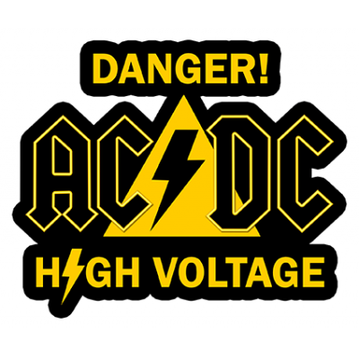 Наклейка Danger Ac Dc High Voltage