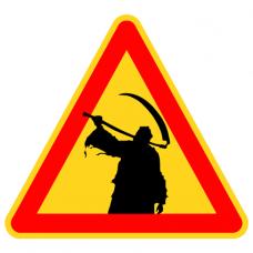 Наклейка Danger Grim Reaper (Смерть с косой)