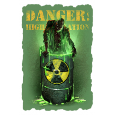 Наклейка Danger High Radiation (Радиация)