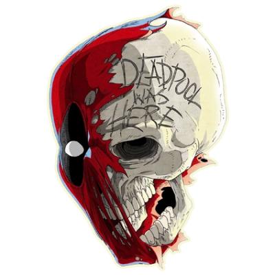 Наклейка Deadpool Skull