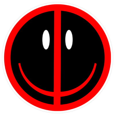 Наклейка Deadpool Smile