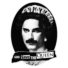Наклейка God Save The Queen