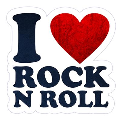 Наклейка I Love Rock N Roll