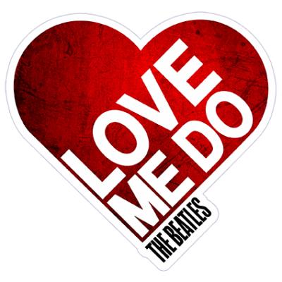 Наклейка Love  The Beatles