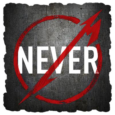 Наклейка Never Metallica