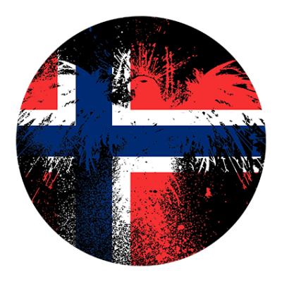 Наклейка Norway Flag (Флаг Норвегии)