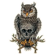 Наклейка Owl Skull